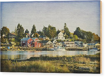 La Conner Waterfront Wood Print
