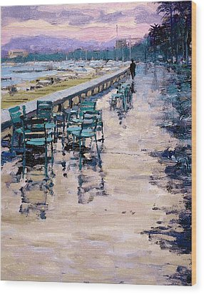 La Croisette Wood Print by Michael Swanson