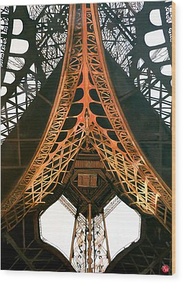 Wood Print featuring the painting La Dame De Fer by Tom Roderick