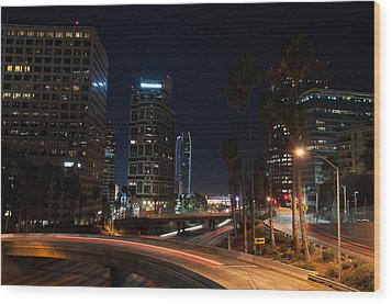 Wood Print featuring the photograph La Down Town 2 by Gandz Photography