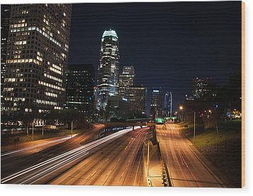 Wood Print featuring the photograph La Down Town by Gandz Photography
