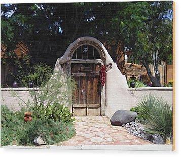 La Entrada A La Casa Vieja De Mesilla Wood Print by Kurt Van Wagner