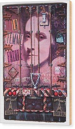 La Femme Fatale Wood Print by Blue Sky