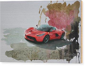 La Ferrari Wood Print
