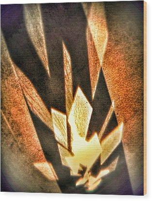 Wood Print featuring the photograph La Flamme Qui Enflamme Sans Bruler by Steven Huszar