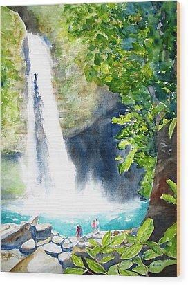 La Fortuna Waterfall Wood Print by Carlin Blahnik