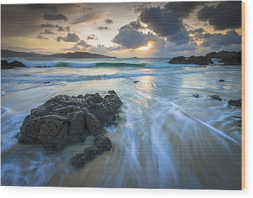La Fragata Beach Galicia Spain Wood Print