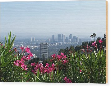 L.a. From Beverly Hills Wood Print by Dany Lison