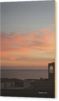 Wood Print featuring the photograph La Hacienda Sunrise by Dick Botkin