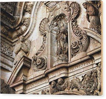 Wood Print featuring the photograph La Iglesia De La Compania  Quito Ecuador by Eleanor Abramson