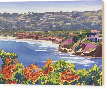 La Jolla Beach And Tennis Club Wood Print by Mary Helmreich