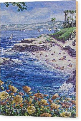La Jolla Beach Wood Print
