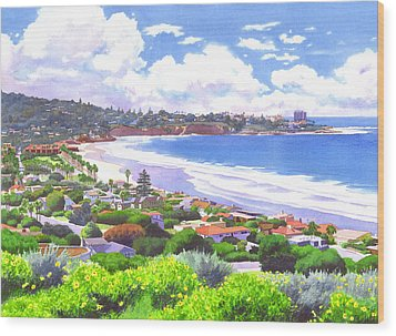 La Jolla California Wood Print by Mary Helmreich