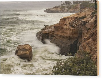 Wood Print featuring the photograph La Jolla Cove 1 by Lee Kirchhevel
