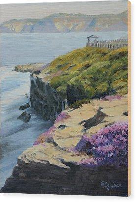 La Jolla Cove Wood Print by Sandy Fisher