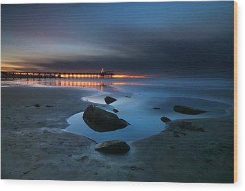 La Jolla Sunset 7 Wood Print by Larry Marshall