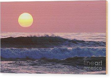 La Jolla Waves Wood Print