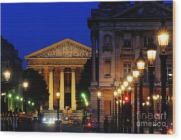La Madeleine At Night Wood Print by Colin Woods