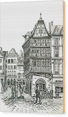 La Maison Kamerzell Wood Print by Janice Best