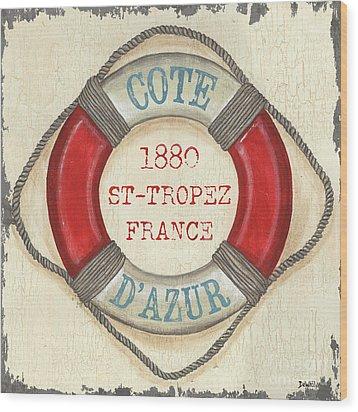 La Mer Cote D'azur Wood Print by Debbie DeWitt