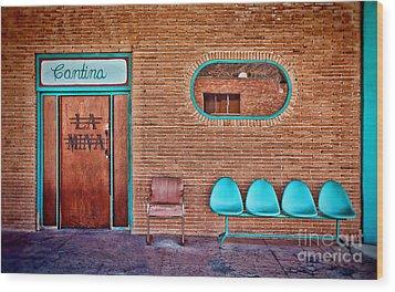 La Mina Cantina Wood Print