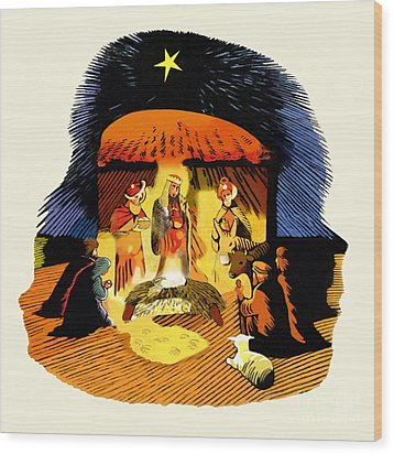 La Natividad Wood Print by Roger Kohn