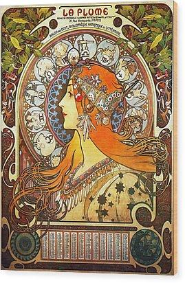 La Plume Zodiac Wood Print