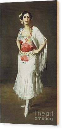 La Reina Mora Wood Print by Robert Henri