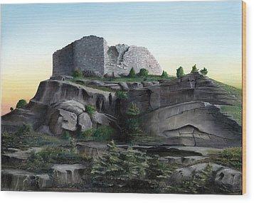 La Rocca De Monte Calvo Wood Print