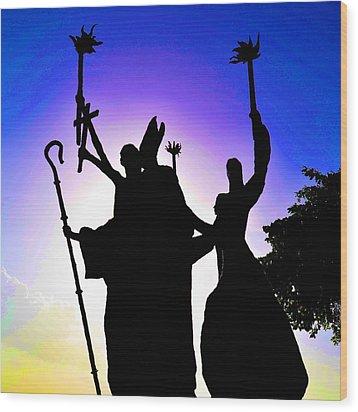 Wood Print featuring the photograph La Rogativa 2 by Ricardo J Ruiz de Porras