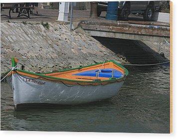 Boat   La Sardine  Wood Print