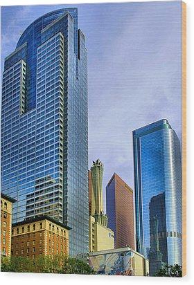 Wood Print featuring the photograph La Skyline by Joseph Hollingsworth