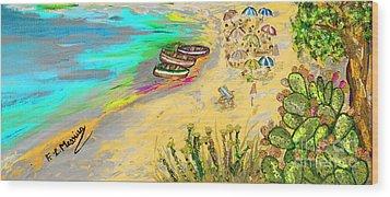La Spiaggia Wood Print by Loredana Messina