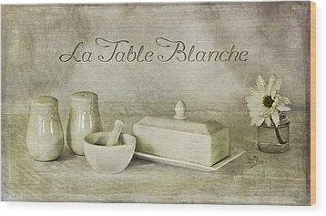 La Table Blanche - The White Table Wood Print