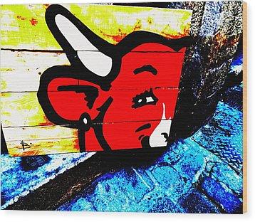 La Vache Qui Rit Art  Wood Print by Funkpix Photo Hunter