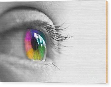 La Vie En Couleurs Wood Print by Delphimages Photo Creations