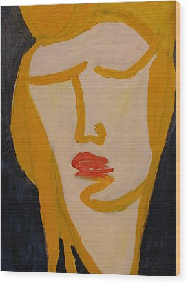 Wood Print featuring the painting L.a. Woman by Shea Holliman