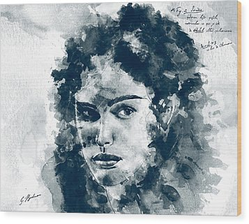 Laban's Daughter Wood Print by Gary Bodnar
