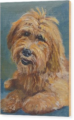 Wood Print featuring the painting Labradoodledoo by Jessmyne Stephenson