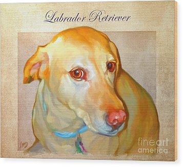 Labrador Art Wood Print by Iain McDonald
