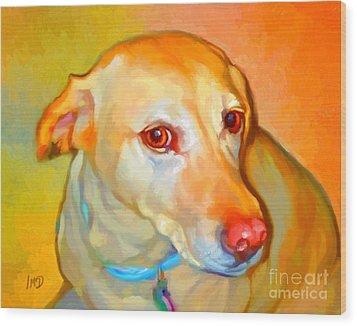Labrador Painting Wood Print by Iain McDonald