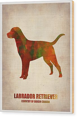 Labrador Retriever Poster Wood Print by Naxart Studio