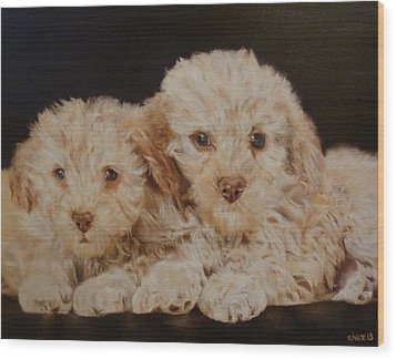 Labradorable Wood Print by Cherise Foster
