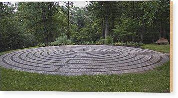 Labyrinth 2 Wood Print