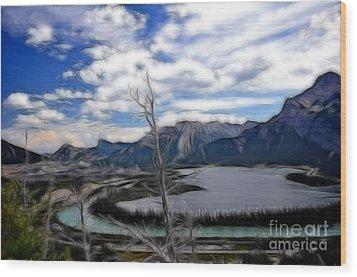 Lac Des Arcs Fractal Wood Print