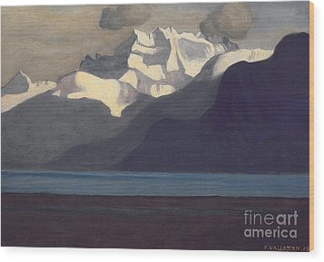 Lac Leman And Les Dents-du-midi Wood Print by Felix Edouard Vallotton
