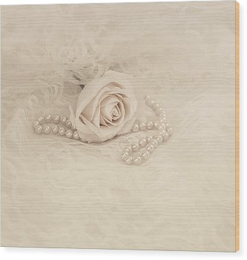 Lace And Promises Wood Print