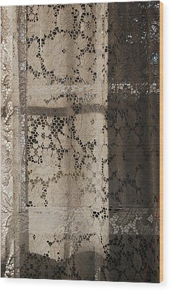 Wood Print featuring the photograph Lace Curtain 2 by Jocelyn Friis
