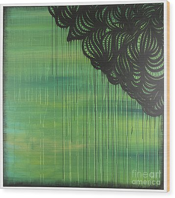 Lace Wood Print by Nia Jacob