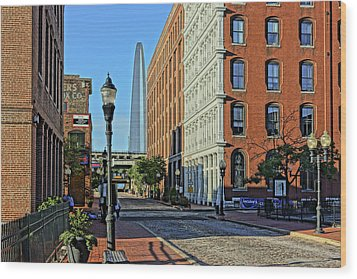 Laclede's Landing Just North Of The Arch Wood Print